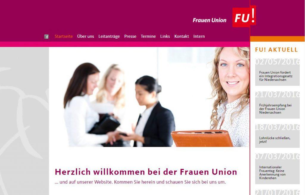 FU Internetseite