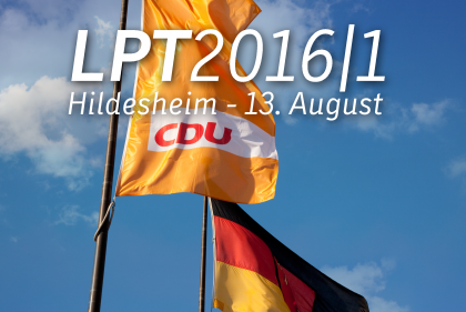 Landesparteitag am 13. August 2016 in Hildesheim
