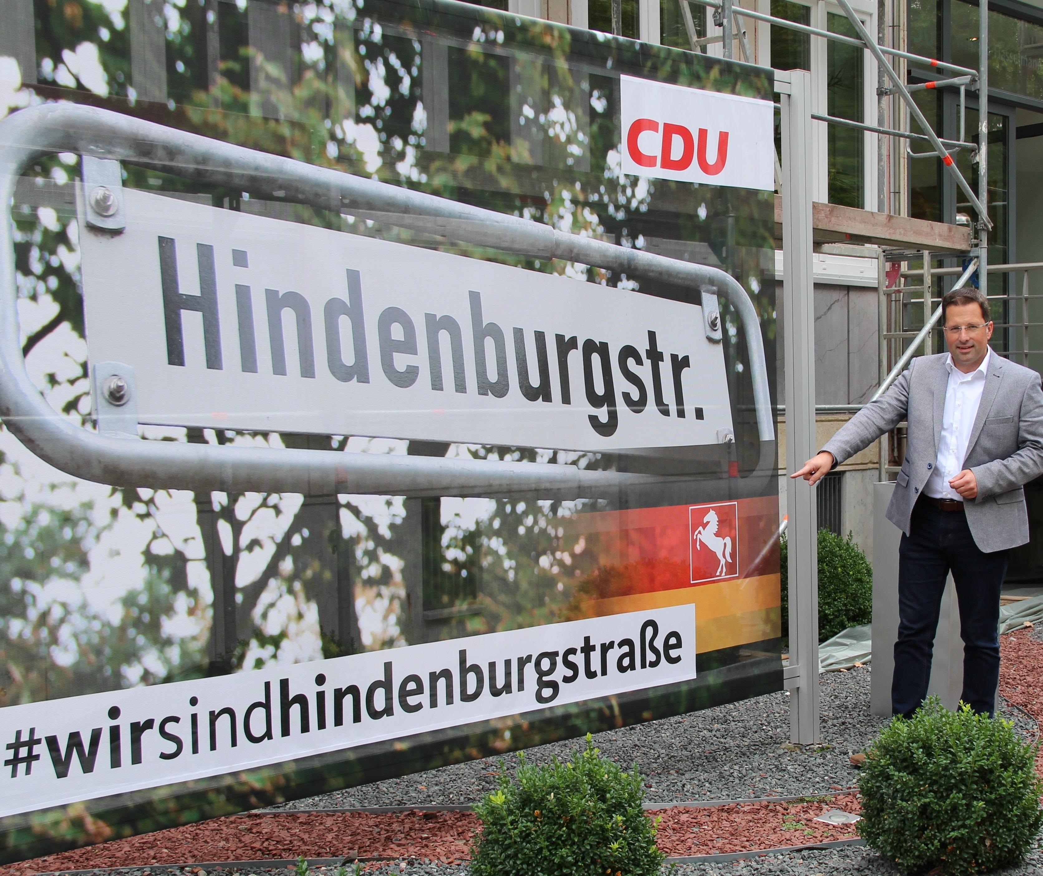Seefried: Hindenburgstr. in Hannover muss bleiben | CDU in Niedersachsen