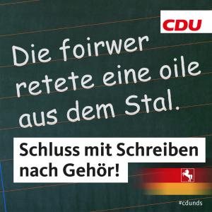 """Seefried: """"Schreiben nach Gehör"""" endlich abschaffen!"""