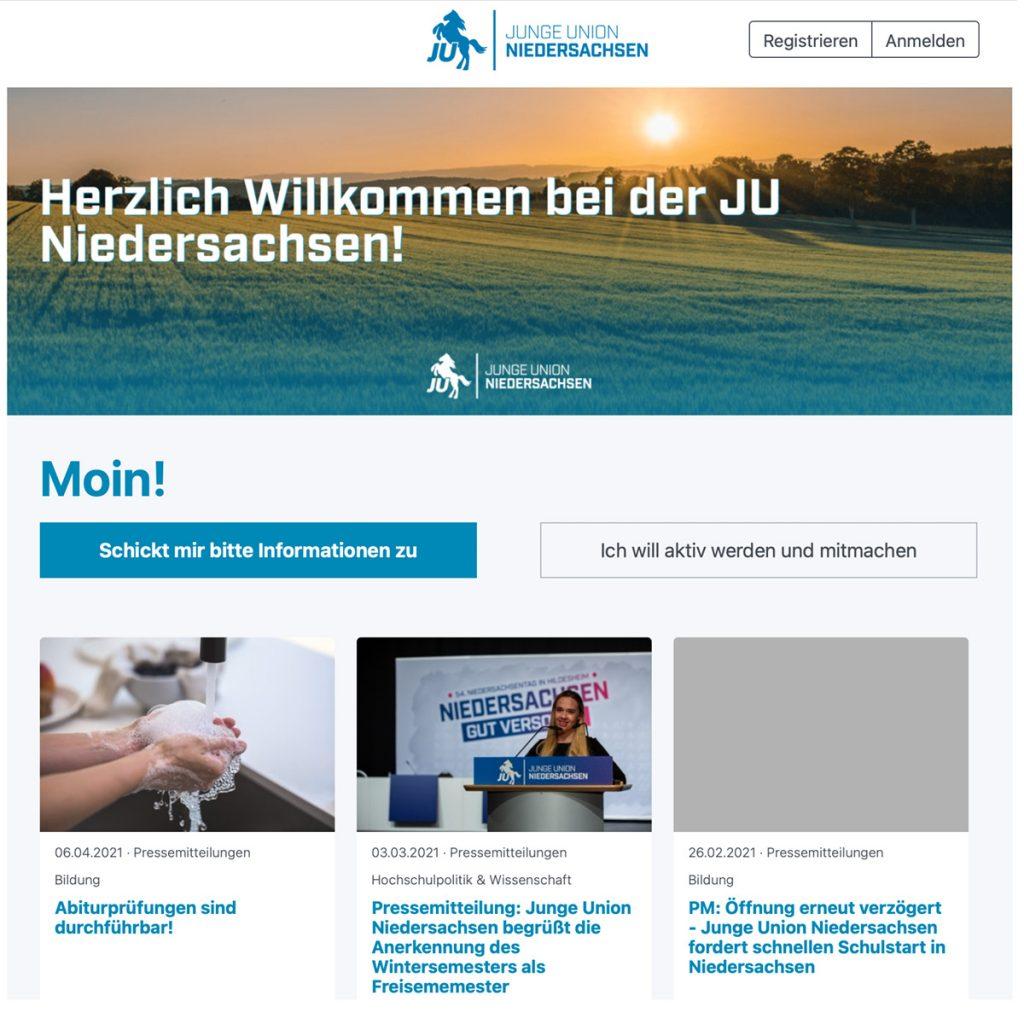 JU Internetseite