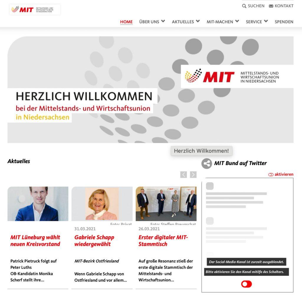 MIT Internetseite