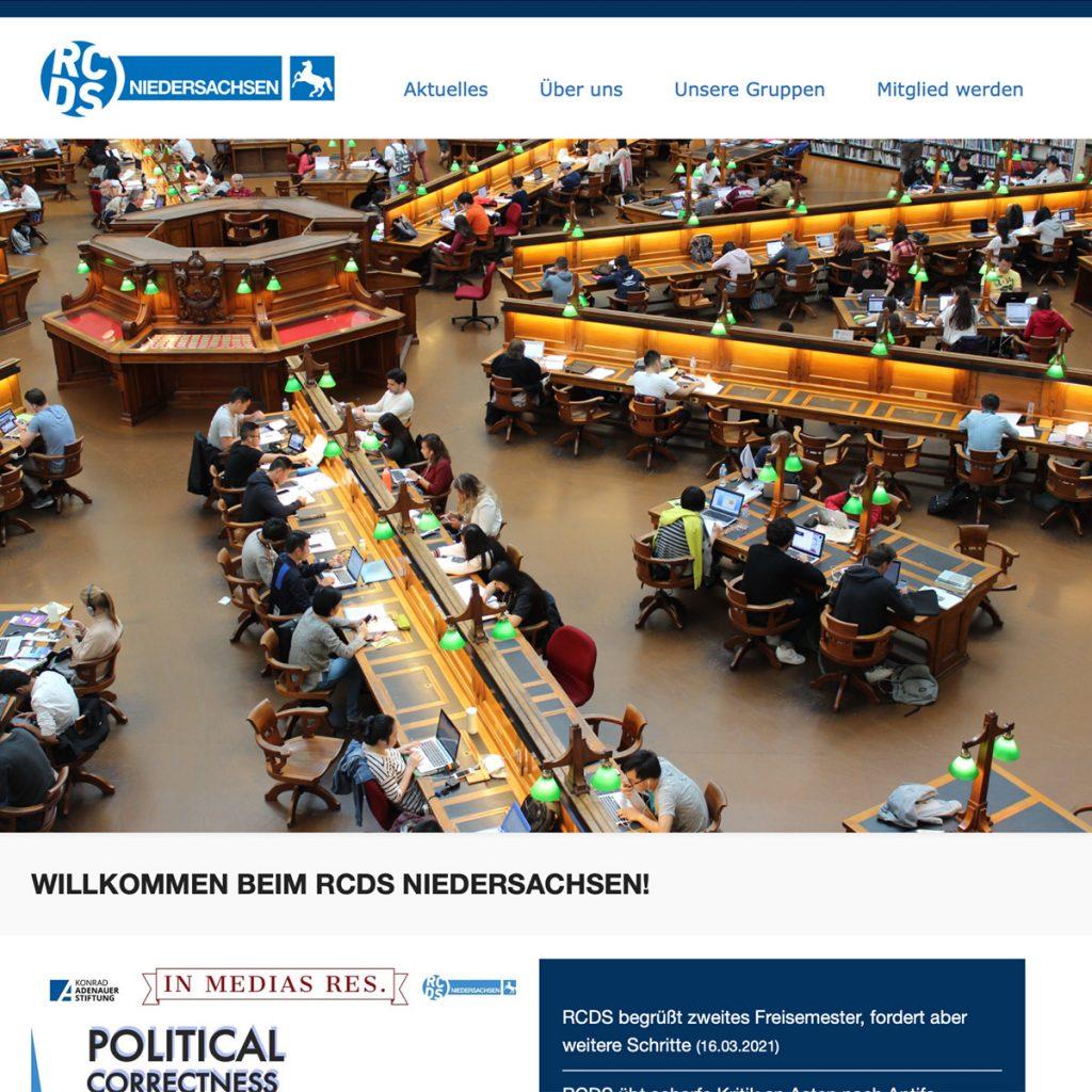 RCDS Internetseite