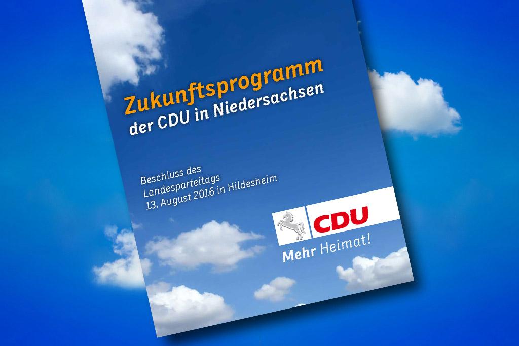 Das Zukunftsprogramm der CDU in Niedersachsen